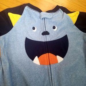 Footie Monster Pajamas Carters full zip toddler 4T